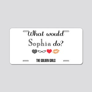 What Would Sophia Do Aluminum License Plate