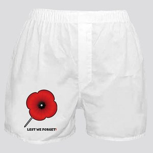 REMEMBRANCE POPPY - LEST WE FORGET! Boxer Shorts