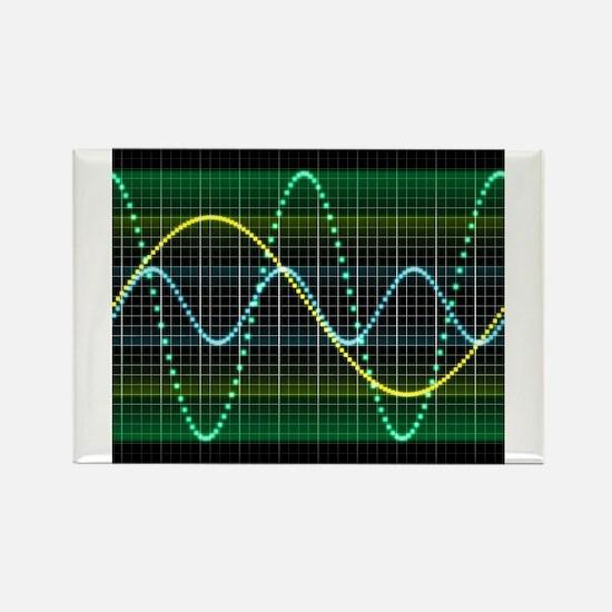 Sound wave, computer artwork - Magnets