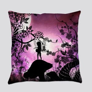 Cute lttle fairy playing guitar Everyday Pillow