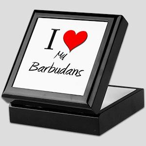 I Love My Barbudans Keepsake Box
