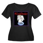 #cookbookwomen's Scoop Neck Dark Plus Size T-S