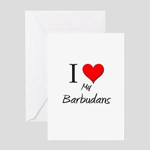 I Love My Barbudans Greeting Card