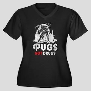 Pugs Not Drugs Plus Size T-Shirt