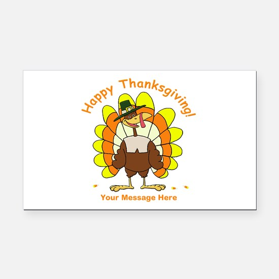 Happy Thanksgiving Rectangle Car Magnet