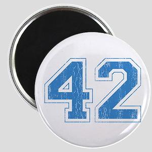 Retro Number 42 Magnet