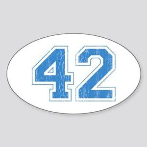 Retro Number 42 Oval Sticker