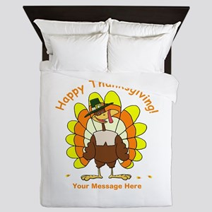 Happy Thanksgiving Queen Duvet
