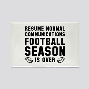 Football Season Is Over Rectangle Magnet