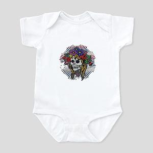 Psychedelic Hippie Skull Infant Bodysuit