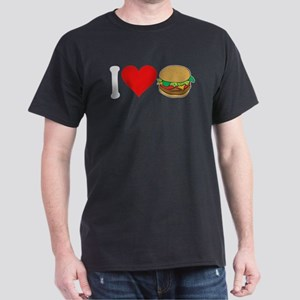 I Love Hamburgers (design) Dark T-Shirt