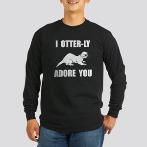 Otterly Adore You Long Sleeve Dark T-Shirt