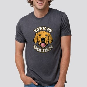 Life is Golden Mens Tri-blend T-Shirt