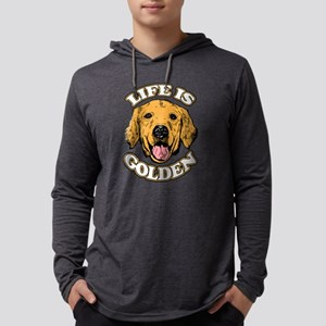 Life is Golden Mens Hooded Shirt