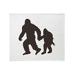 Bigfoot Jr Throw Blanket