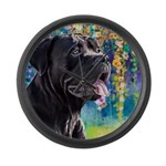 Cane Corso Painting Large Wall Clock