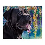 Cane Corso Painting Throw Blanket
