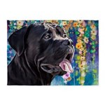 Cane Corso Painting 5'x7'Area Rug