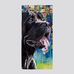 Cane Corso Painting Beach Towel