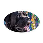 Cane Corso Painting Oval Car Magnet