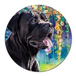 Cane Corso Painting Round Car Magnet