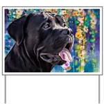 Cane Corso Painting Yard Sign