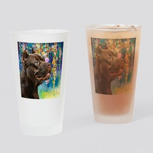 American Staffordshire Terrier Painting Drinking G