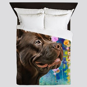 American Staffordshire Terrier Painting Queen Duve