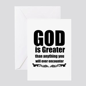God is Great Greeting Cards