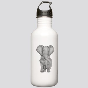Elephant mother and ch Stainless Water Bottle 1.0L