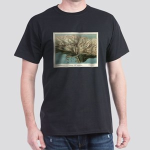Vintage Pictorial Map of The Panama Canal T-Shirt