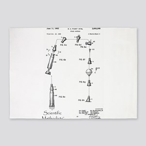 Space Capsule Patent 3093346 5'x7'Area Rug
