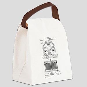 Tesla Motor patent 382279 Canvas Lunch Bag
