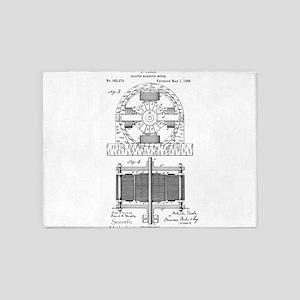 Tesla Motor patent 382279 5'x7'Area Rug