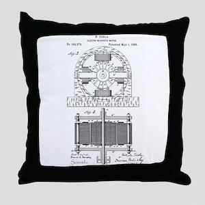 Tesla Motor patent 382279 Throw Pillow