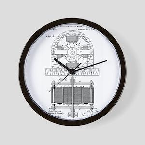 Tesla Motor patent 382279 Wall Clock