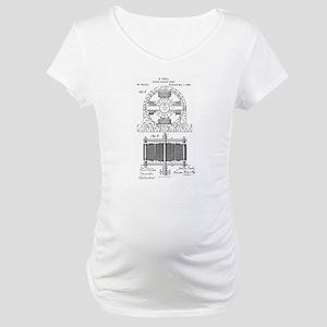 Tesla Motor patent 382279 Maternity T-Shirt