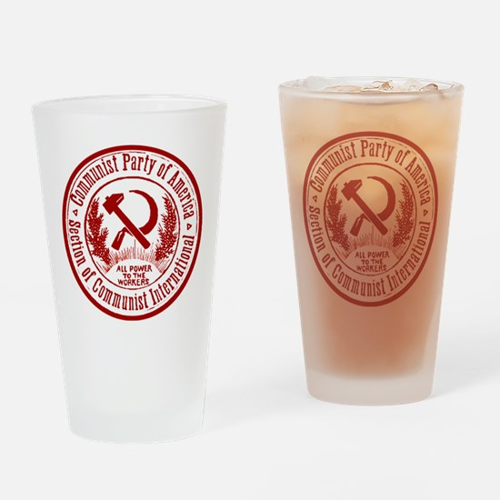 Communist Party of America Drinking Glass