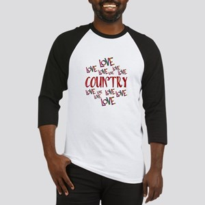 Love Love Country Baseball Jersey