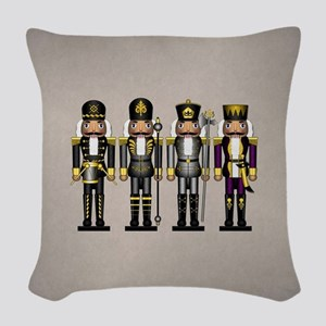Nutcrackers in Asexual Colors Woven Throw Pillow