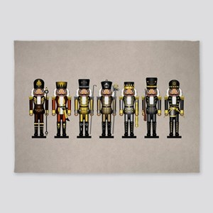 Nutcrackers in Bear Colors 5'x7'Area Rug