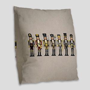 Nutcrackers in Bear Colors Burlap Throw Pillow