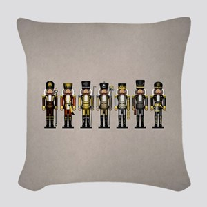 Nutcrackers in Bear Colors Woven Throw Pillow