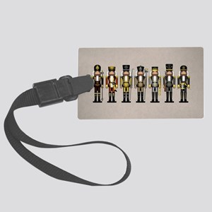Nutcrackers in Bear Colors Large Luggage Tag