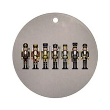 Nutcrackers in Bear Colors Round Ornament