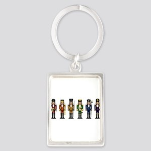 Nutcrackers in Rainbow Colors Keychains