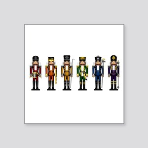 Nutcrackers in Rainbow Colors Sticker