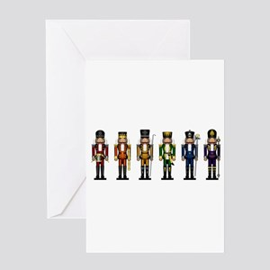 Nutcrackers in Rainbow Colors Greeting Cards