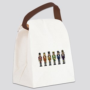 Nutcrackers in Rainbow Colors Canvas Lunch Bag