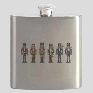 Nutcrackers in Rainbow Colors Flask